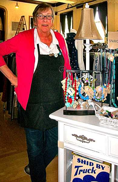 RITA A. LEONARD - Gay Reichle, owner of Hazel & Pear, will focus on upcycled furniture and home décor in her store.