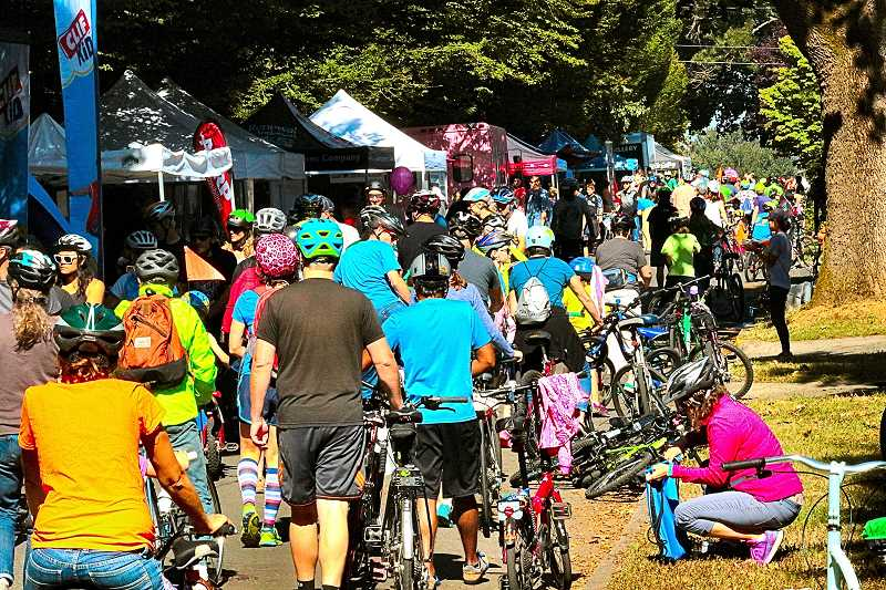 DAVID F. ASHTON - The Sellwood Sunday Parkways day in 2017 was packed with participants along Sellwood Park, but wont be returning to the area in the near future.