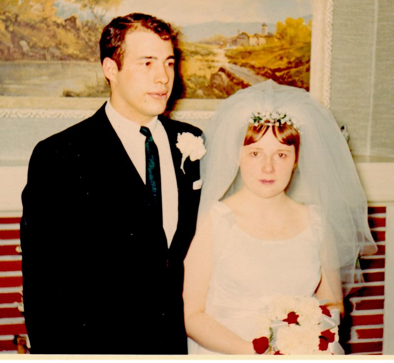CONTRIBUTED PHOTO - Jim and Lora Dhone on their wedding day in 1968.