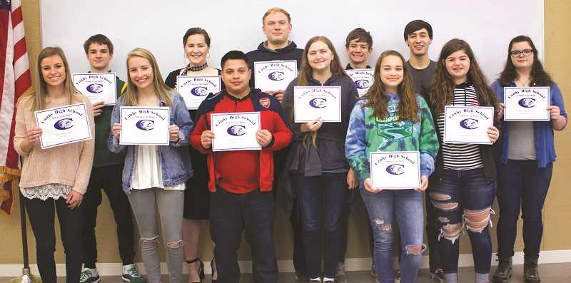 Canby High School students of the month for April.