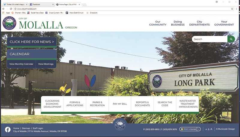 The City of Molalla has unveiled a new website.