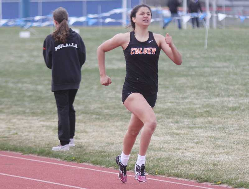 STEELE HAUGEN - Irma Retano won four events on April 118. She won the 200, 400, 800, and 1,500.