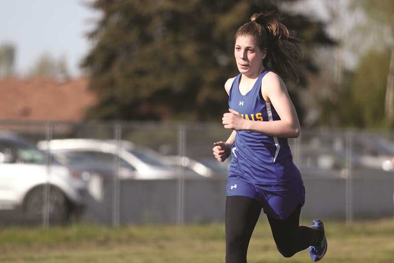 PHIL HAWKINS - Gervais freshman Katie Hanson's personal-best time of 1:02.20 she posted on Thursday ranks as the third-best finish in the event among 3A athletes this season.