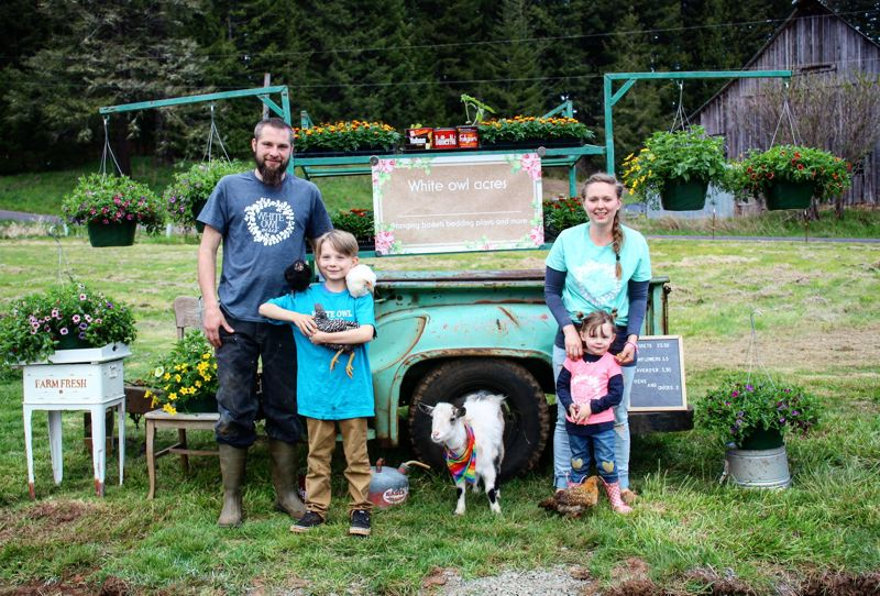 CONTRIBUTED PHOTO - The team behind White Owl Acres is the Deckert family: Lee, Jessica, Logan, 9, and Ruby, 3.