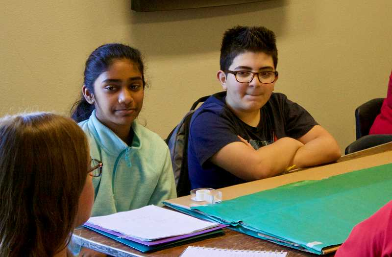 OUTLOOK PHOTO: CHRISTOPHER KEIZUR - Students from around the state gathered Friday, March 20, in Gresham to discuss how to be more sustainable in school.