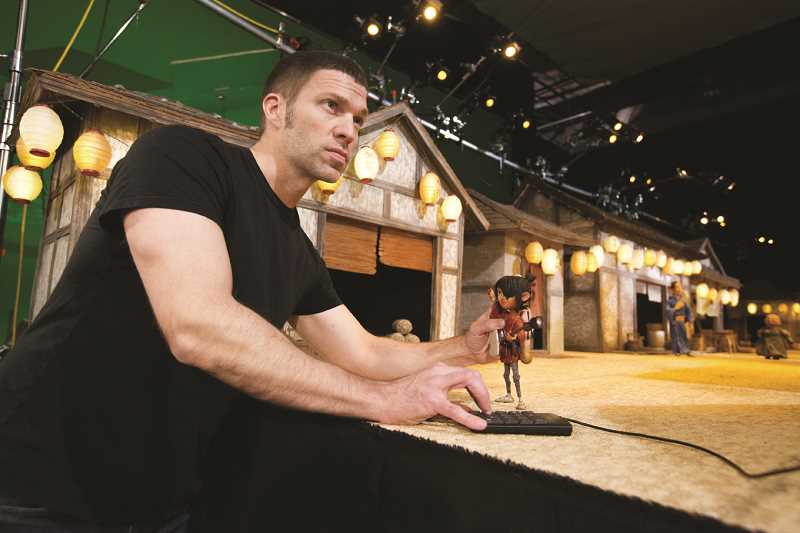 COURTESY PHOTO: LAIKA - Travis Knight, president of Hillsboro's LAIKA studios, works on 'Kubo and the Two Strings' in 2016.