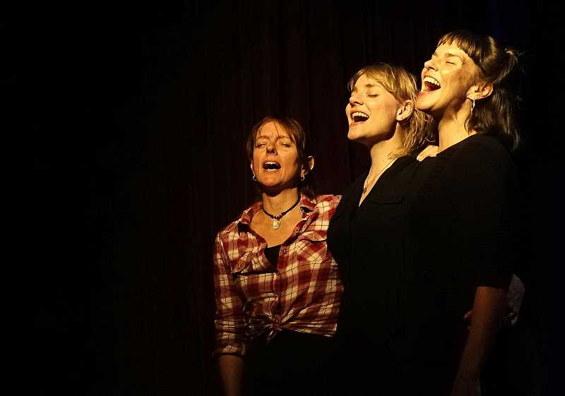 SUBMITTED PHOTO - The Lasses with Kathyn Claire perform April 28 at the Winona Grange, Tualatin.