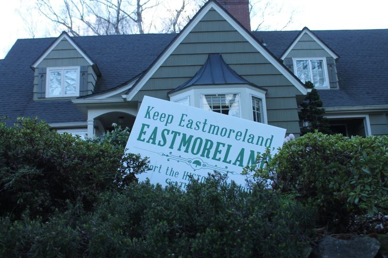 PAMPLIN MEDIA GROUP FILE PHOTO - State historic preservation officials said Wednesday, April 25, that the Eastmoreland Historic District was likely doomed by objections from more than 5,000 property owners.