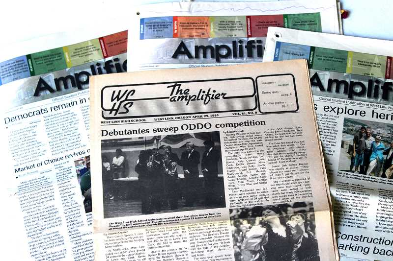 SUBMITTED PHOTO - About 600 pages of Amplifier archives are now fully digitized online and available through the University of Oregon Libraries website, but the Historical Society and its student partners hope there's plenty more to come.
