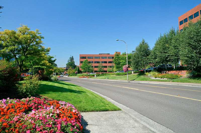 PHOTO COURTESY OF THE SHORENSTEIN COMPANY - Well-manicured and designed with corporations in mind, Kruse Way offers businesses close proximity to both quality infrastructure and a highly livable community.