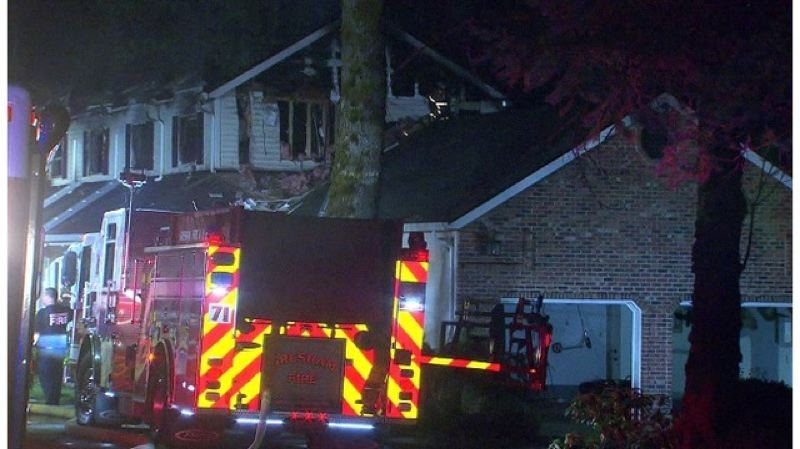 CONTRIBUTED PHOTO: KOIN 6  - There were no fire hydrants near the house on Southeast Dodge Park Boulevard.