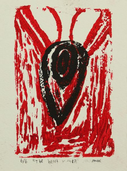 PHOTO COURTESY: MELISSA BURT - Max Hasibar of Gardiner Middle School titled this piece 'The Heart Within.'