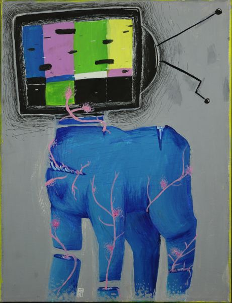 PHOTO COURTESY: MELISSA BURT - Milwaukie Academy of the Arts sophomore Julie Rogers' piece is called 'Brainwashed.'