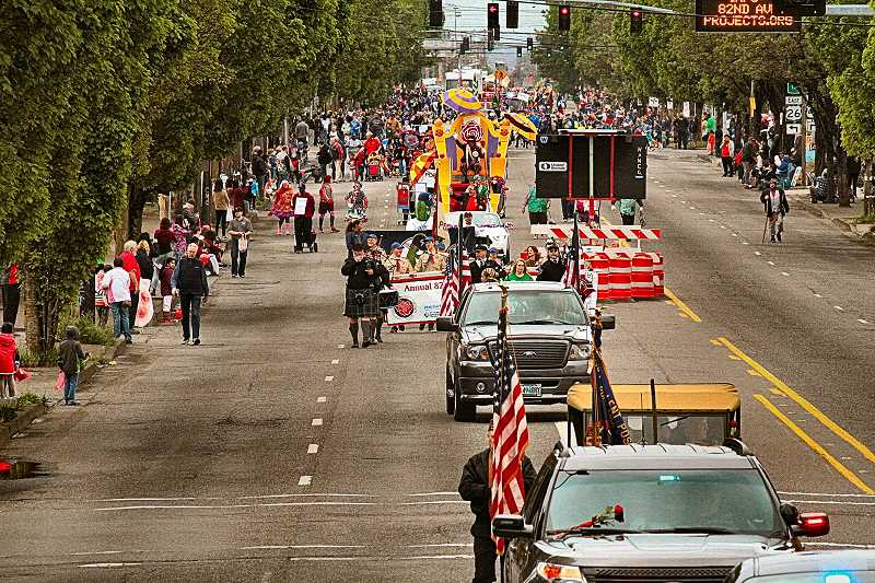 DAVID F. ASHTON - This was the 2016 Avenue of Roses Parade in progress; BEE photographer David Ashton, who took the picture, will be on hand with his camera to cover the parade again this year.