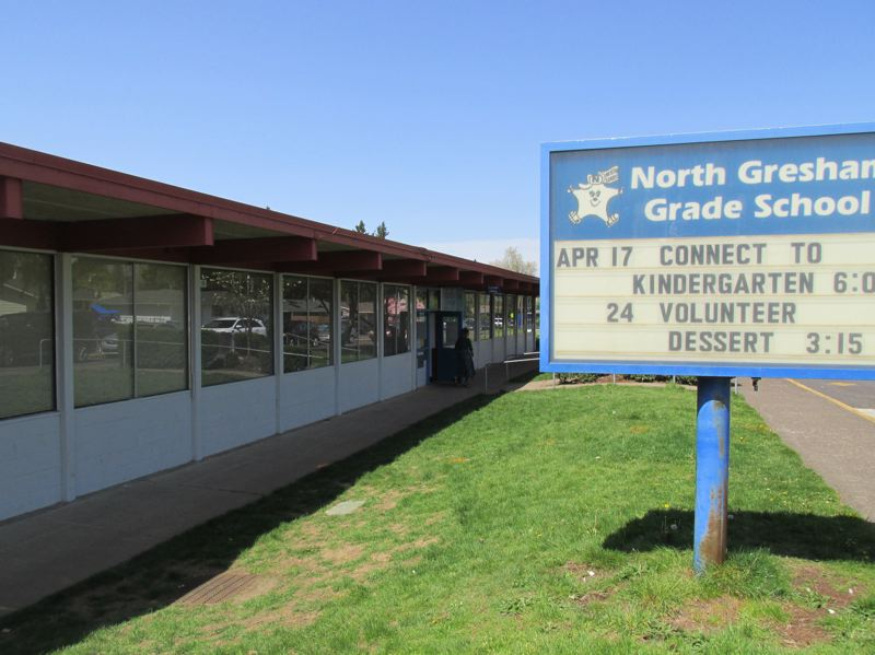 OUTLOOK PHOTO: TERESA CARSON - The old North Gresham Elementary is a single-story building, which opened in 1961.