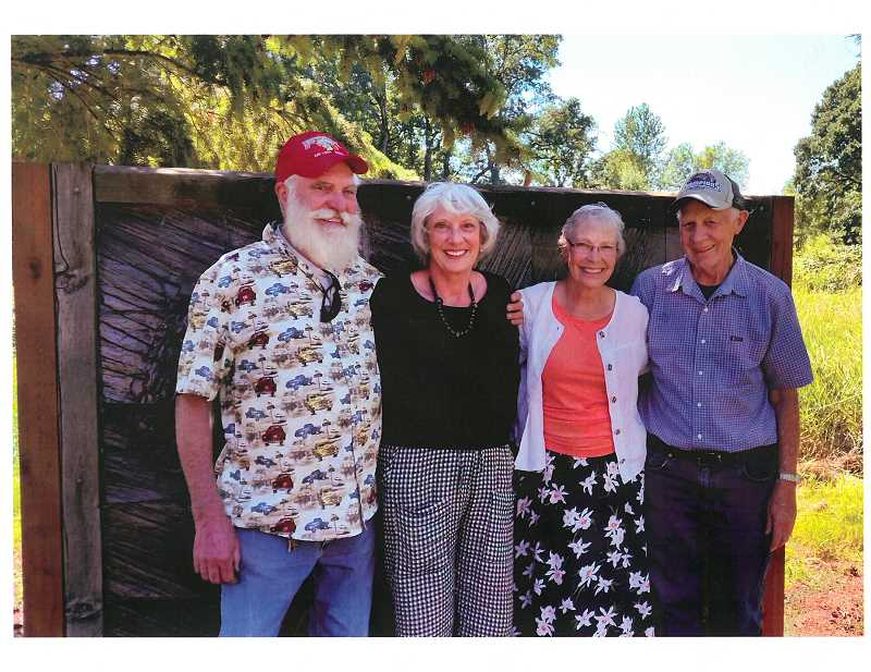 COURTESY PHOTO - Marvin Key (left) and Stephen Scott Key (right) pose with their sisters Maureen Key and Darlene Key.