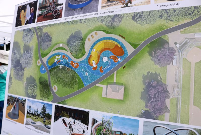 TRIBUNE PHOTO: ZANE SPARLING - Another rendering shows the final design for Glenhaven Park near Northeast 82nd Avenue in Portland.