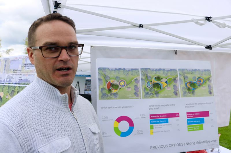 TRIBUNE PHOTO: ZANE SPARLING - Gary Datka is project manager for Glenhaven Park.
