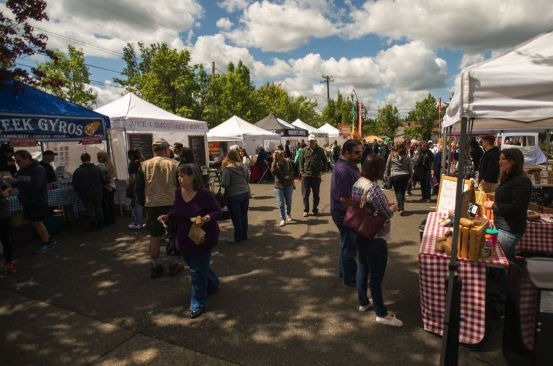 FILE PHOTO - The Gresham Farmers Market in 2017.