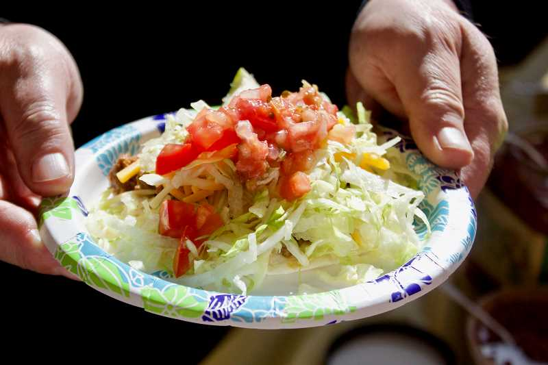 OUTLOOK PHOTO: CHRISTOPHER KEIZUR - Matt Millers made-to-order island street tacos were a big hit.