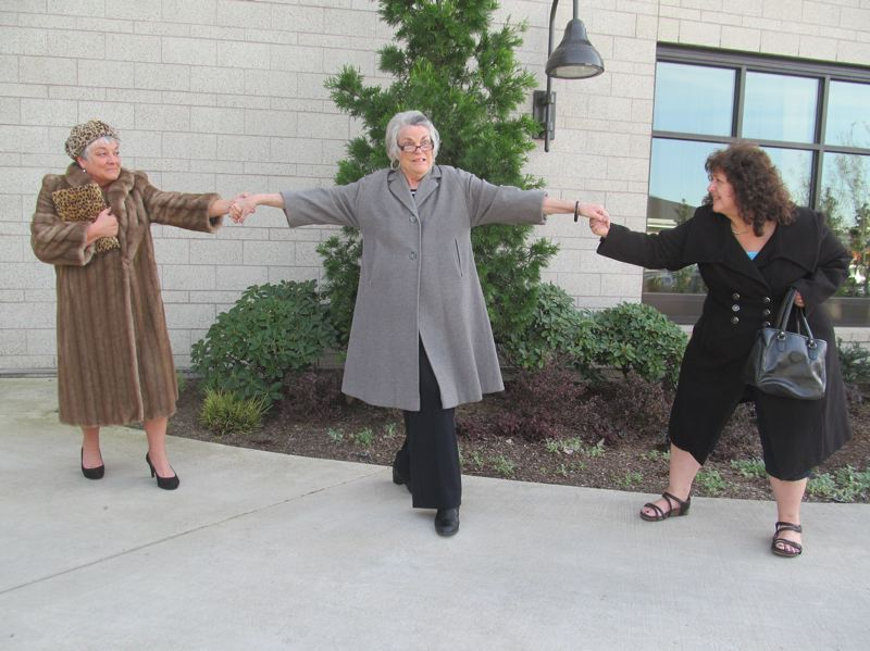 PHOTO BY DICK TRTEK - Virginia Kincaid (Ida), center, finds herself pulled into a conflict with her two best friends Mary Weigel (Lucille) and Arleen Daugherty (Doris).