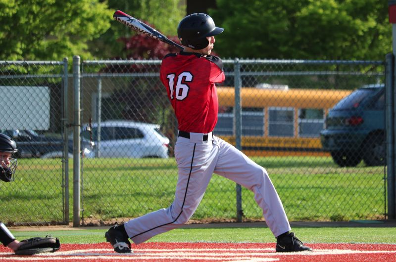 PAMPLIN MEDIA PHOTO: JIM BESEDA - Clackamas' Ryan Ahlstrom went 3 for 4 with two RBIs in last week's 4-1 road win over Oregon City at Bauer Field.