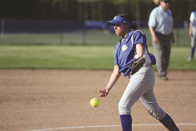 PHIL HAWKINS - Woodburn's Marina Salazar struck out four and gave up four hits in a complete game performance in the Bulldogs' 18-4 win over Chemawa on Thursday.