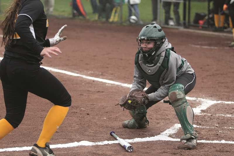 PHIL HAWKINS - The North Marion coaching staff moved senior Ally Umbenhower to catcher and junior Samantha Baylie to the infield, putting two of the team's most seasoned players closer to the action.