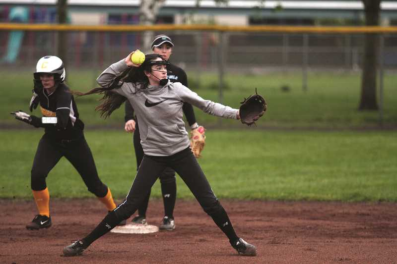 PHIL HAWKINS - Freshman Liliana Piercey has been one of the Huskies' bright young stars this season, and is coming off a week in which she hit three triples and drove in eight runs in a 12-10 win over Stayton.