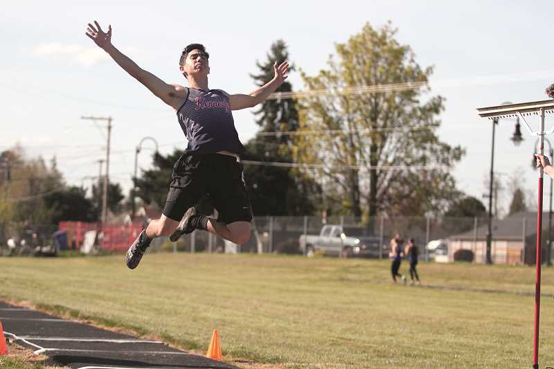 PHIL HAWKINS - Kennedy senior Anthony Garcia ranks near the top of the Tri-River Conference in both the long jump and triple jump.