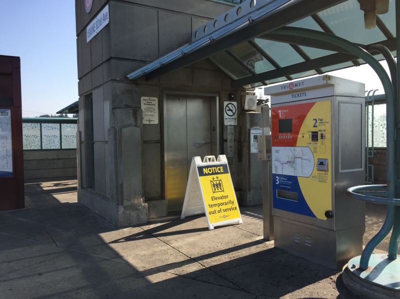 COURTESY TRIMET - MAX riders can expect to find elevators closed for 12 to 14 weeks while they are being upgraded.