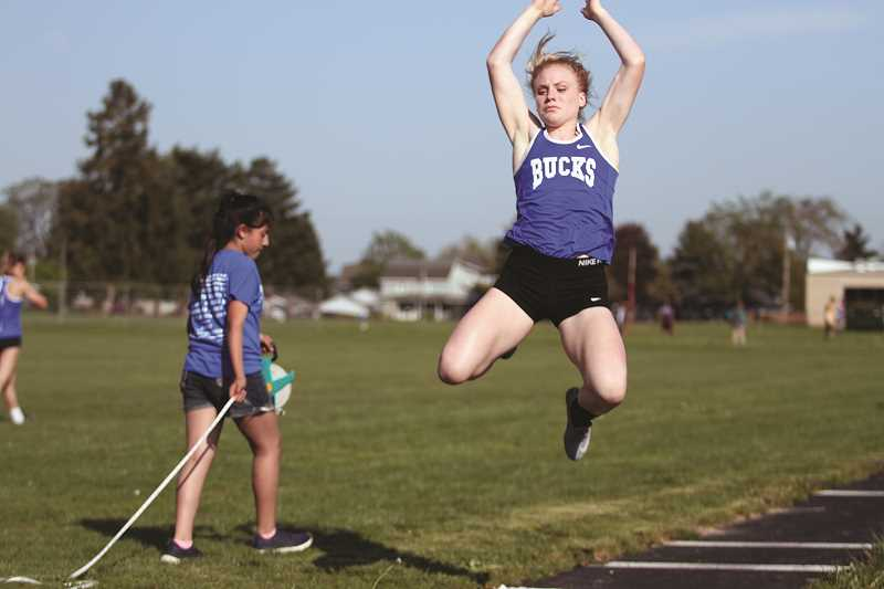 PHIL HAWKINS - St. Paul sophomore Isabelle Wyss is looking to qualify for state as an individual in the 100-meter dash, 200, long jump and triple jump, and as part of the Buckaroo's 4x100 and 4x400 relay teams.