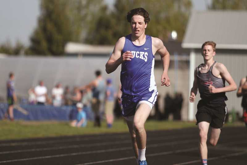 PHIL HAWKINS - St. Paul senior Holden Smith is among the top two athletes in the Tri-River Conference in the 1,500-meter run.