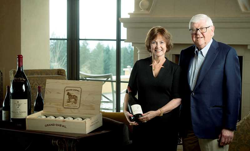 SUBMITTED PHOTO - Grace and Ken Evenstad have pledged $6 million to Linfield College to significantly expand the school's wine education program.