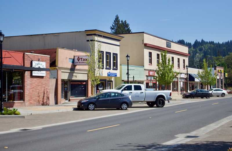 NEWS PHOTO: CHRISTOPHER KEIZUR - Downtown Estacada has become the first small city in Oregon to be recognized as a Performing Main Street by the Oregon Main Street network.