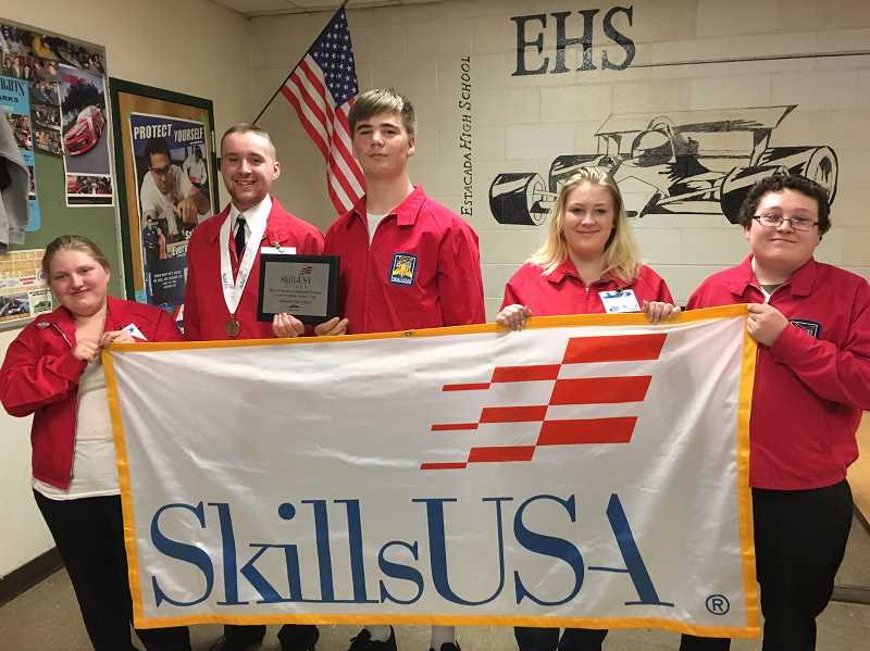 CONTRIBUTED PHOTOS: ESTACADA SKILLSUSA - The SkillsUSA club at Estacada High School has seen record growth this year.