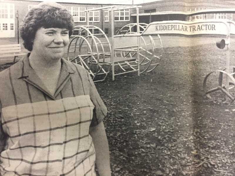 ARCHIVE PHOTO - In 1988, the Estacada Grade School parents club, led by Cindy Stuart, donated $4,000 for new playground equipment.