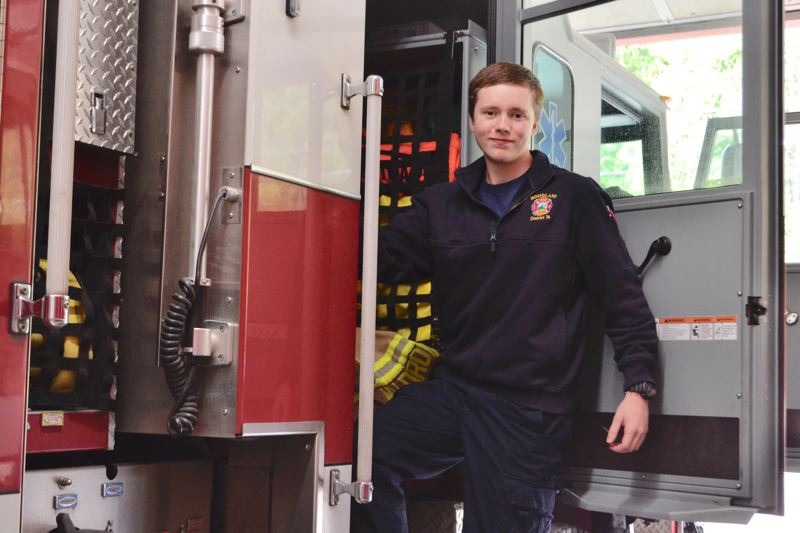 POST PHOTO: BRITTANY ALLEN - Jonathan Frank has considered a career as a firefighter since the fifth grade, and his father's decision to get involved as a volunteer five years ago gave Frank the push to sign up for the explorers.