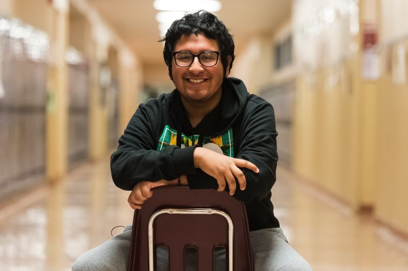 STAFF PHOTO: CHRISTOPHER OERTELL - Sixteen-year-old Pedro Morales, this year's News-Times Amazing Kid, plans to be the first in his family to attend college.