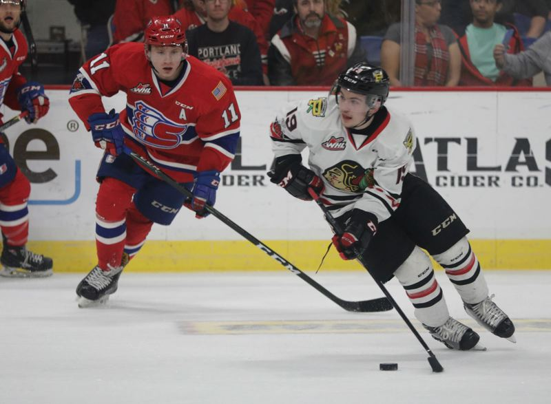 TRIBUNE PHOTO: JONATHAN HOUSE - Key returning Portland Winterhawks players for next season figure to include Ryan Hughes (right).