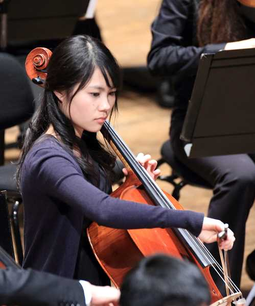 SUBMITTED PHOTO: MIKI NAKAI - Miki Nakai joined the organization during her freshman year and was thrilled to be promoted to the primary PYP orchestra as a senior.