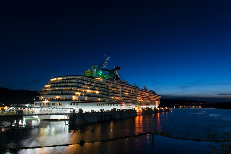 PHOTOS: CRAIG ALNESS/VIGOR - The Carnival Legend will be in dry dock in Portland for two weeks.