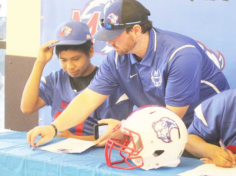 STEELE HAUGEN - Kurt Taylor explains what it means to sign the four year letter of intent.