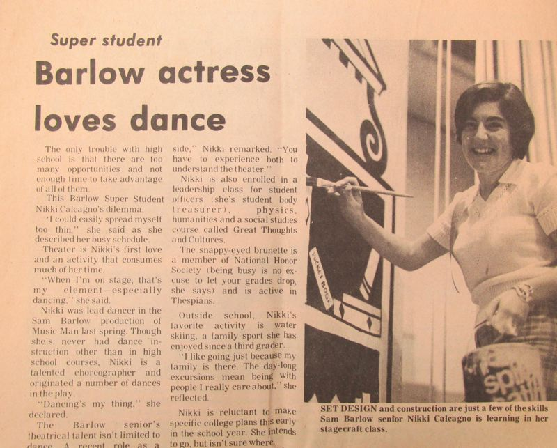 OUTLOOK PHOTO: TERESA CARSON - A clip from an old copy of The Outlook talks about the multiple accomplishments of Nikki Hudson, 'a snappy-eyed brunette.'