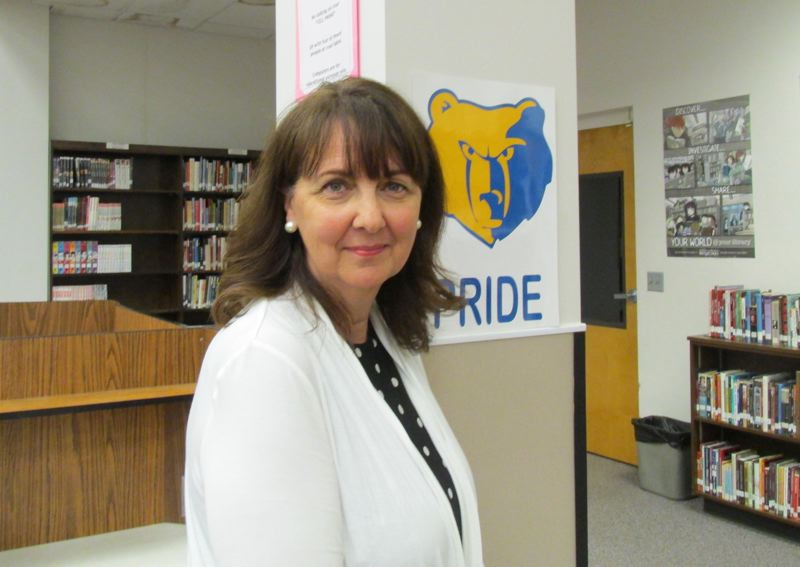 OUTLOOK PHOTO: TERESA CARSON - Carol Hardin, class of 1972, cant wait until her granddaughter attends Barlow, the third generation to wear the blue and gold.  7
