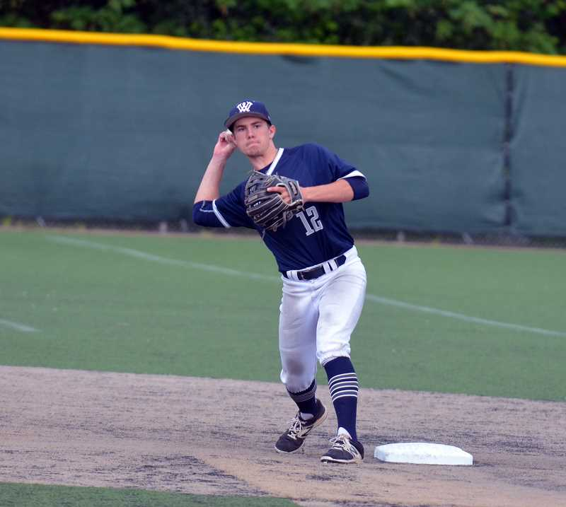 SPOKESMAN PHOTO: TANNER RUSS - Senior Scott McAvoy scored one of Wilsonvilles 16 runs against Parkrose on Tuesday, May 1.