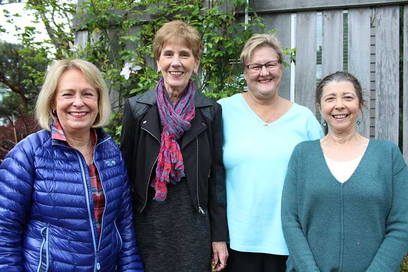 SPOKESMAN PHOTO: SAM STITES - From left: Wilsonville Garden Club members Charla Dent, Nancy McElwain, Mary Ellen Spink and Jan Krier