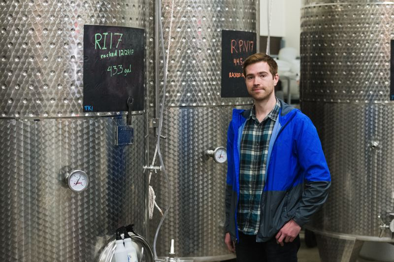 STAFF PHOTO: CHRISTOPHER OERTELL - Winemaker Emery Risdall has invested in new fermentation and storage tanks at Forest Grove's Risdall Ranch Winery.