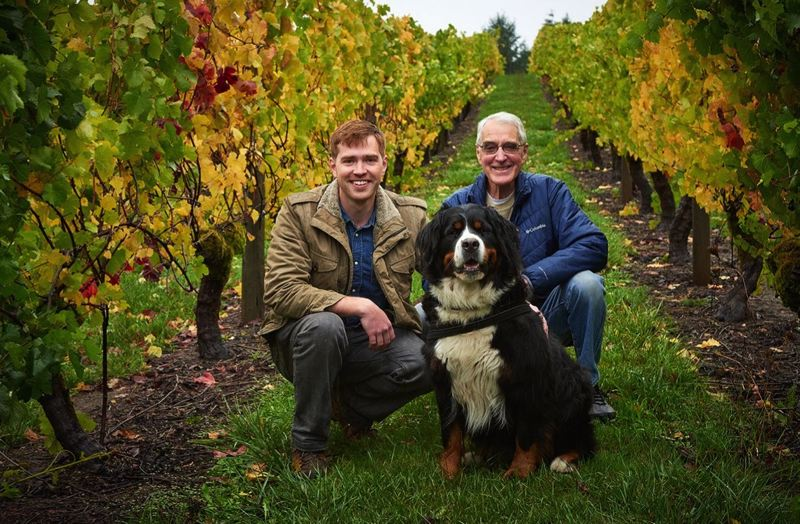 COURTESY PHOTO: RISDALL RANCH WINERY - Emery Risdall (left) and father Bob Risdall (right) purchased what was formerly known as Shafer Vineyard Cellars and have rebranded it as Risdall Ranch Winery.
