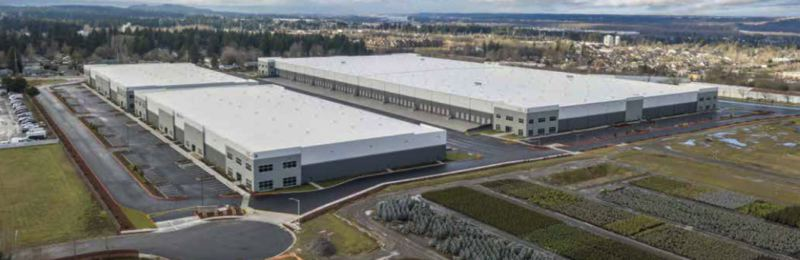 COURTESY: JLL RESEARCH - Vista Logistics Park in Gresham is among the most recent industrial developments built to meet the growing demand in the Portland metro area. Completed last year through a partnership between Portland-based Specht Development Inc. and New York Life Real Estate Investors, the development houses 733,232 square feet in three buildings on a 37-acre site.